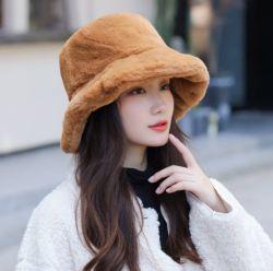 모피 버킷 모자 패션 모자 인조 모피 모자 고품질 새로운 트렌드 따뜻한 패션 화려한 레이디 햇