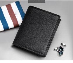 Мода головки блока цилиндров высокого качества слоя из натуральной кожи для мужчин Wallet