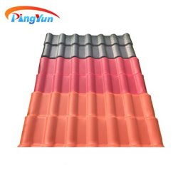 Un style espagnol de la résine synthétique ASA plastique PVC tuile de toit pour toiture de la Chambre préfabriqué
