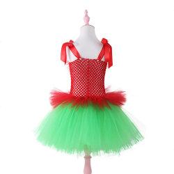 Bambino Elf Tutu vestito toddler maglia crochet stretch vestito di Natale Con gonna Tulle Este16412