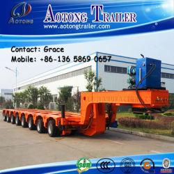 100-500tonne Multi-Axle hydraulique de direction col de cygne modulaire à lit de basse (axe de la remorque en option)