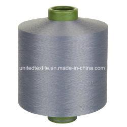 100%년 폴리에스테 DTY 진한 액체에 의하여 염색되는 뜨개질을 하는 털실 (450d/144f SD 그)