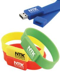 Beweglicher PVCBracelet USB Flash Drive für Christmas Gift 8GB (UFD-W02)