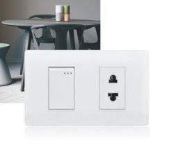 Interruptor da Luz de parede americano elétrico o Soquete 1 pista 3 e Pino