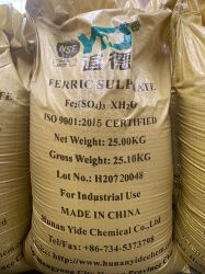 Usine de sulfate de fer avec NSF de certification pour l'eau potable