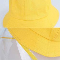 Logotipo personalizado a impressão de baixa quantidade mínima de crianças anti-UV Sun Bebé Anti-Spray Multifunções preto Exclusão Anti-Spray Caçamba Hat em algodão para crianças