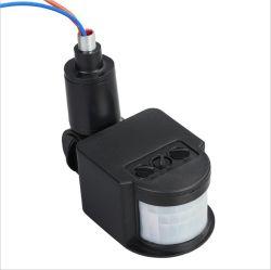AC220V DC12V de OpenluchtSchakelaar van de Inductor van de Detector van de Sensor van de Motie van het Menselijke Lichaam van de Veiligheid PIR voor LEIDENE Schijnwerper