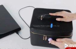 Cassa di strumento cosmetica del tessuto leggero del poliestere con l'indicatore luminoso UV di disinfezione