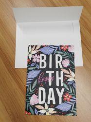Sublimación personalizada en blanco Feliz cumpleaños Tarjetas de felicitación a los niños grueso