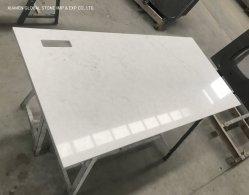 Ciel de Londres personnalisé Quartz artificiel blanc pierre Table de bureau Mobilier de salle des comptoirs pour l'hôtel