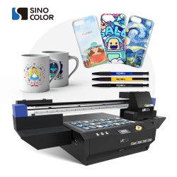 최고의 판매 2/3개 헤드 6090 UV 평판 잉크젯 프린터 아크릴 목재 유리 금속 세라믹 폰 케이스에 대한 텍스처 효과 가벼운 골프