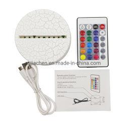 Nouveau arrivée 5V USB Night Light support d'affichage RVB multicolore Pied de lampe à LED ABS avec boîtier de batterie