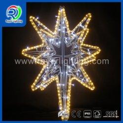 الديكور الخارجي زخرفة عيد الميلاد LED زخرفة ضوء النجوم