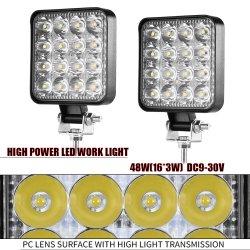 Produção 27W 48W levaram Luzes de Trabalho de carro automático foco LED 12V 24V Offroad levou a barra de luz