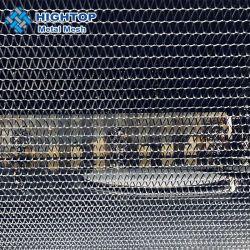 Fio Espiral decorativos arquitectónico do elo da corrente de aço inoxidável de malha de Correia Transportadora