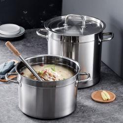 Vendita all'ingrosso di alta qualità Cookware Ristorante zuppa pentole scaldabiberon di cottura zuppa Vaso in acciaio inox Pot