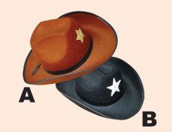 Logo van de klant Reclame Nonwoven Fabric Felt Cowboy Hat als Promotioneel Cadeau