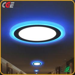 Ultra Slim 18+6W rond Carré dissimulé double LED de couleur Downlight deux Panneau couleur double la lampe de couleur de lumière