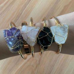 Estate Moda Gioielli Open Crystal Grande Irregular Crystal avvolgimento bracciale Angolazione