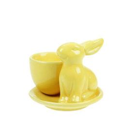 كأس البيض الخزفي الملون المخصص لأرنب عيد الفصح