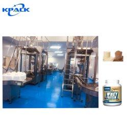 Automatischer Protein-Milch-Puder-Hochgeschwindigkeitsstangenbohrer-füllende Dosen, die Maschinerie-Produktionszweig packen
