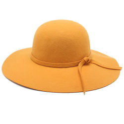 핫 세일 팩토리 가격 여성용 접이식 와이드 브림 보울러 Fedora Hat Round Top Hat