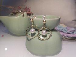 Настраиваемые природных Pearl серьги