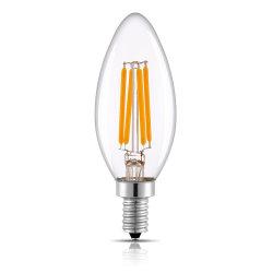 مصباح إديسون الخفيف الزجاجي C35، 2 واط، 4 واط، 5 واط E14 E12 E27 E26، لمبة LED Filent غير قابلة للإضاءة
