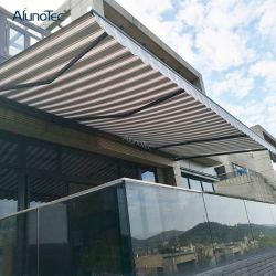 Control remoto eléctrico motorizado balcón lleno de aluminio toldos retráctiles Cassette Rain Cover Toldo