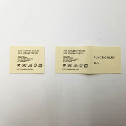 La impresión de seda blanco satinado OEM de cuidado de lavado de ropa de etiqueta del cuello de la etiqueta