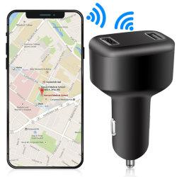 سيارة في الوقت الحقيقي شاحن ولاعة السجائر الصغيرة ولاعة السجائر GPS مع جهاز GPS للشحن السريع مزدوج من خلال USB