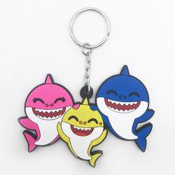Regali promozionali portachiavi in plastica 2D con squalo per bambini