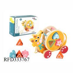Haute qualité en bois jouet Voiture d'animaux Puzzles Enfants Jouets d'apprentissage