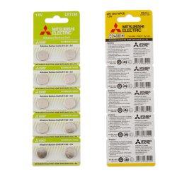 precio de fábrica Mitsubishi AG10 LR1130 Pila de botón alcalina batería seca