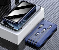 速い充満10000mAh力は充電器の1つのケーブル携帯用移動式力バンクに付き組み込みのマイクロUSB/Type-C/Lightning/USB 4つを取引する