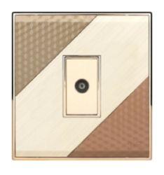 مقبس التلفزيون عنصر ثلاث عناصر من مكونات الإطار المعدني عالي الجودة