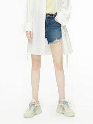 Adaina Clothing Co., Ltd. Processing Custom Spring New Cotton Adrim Blue Fured Shorts