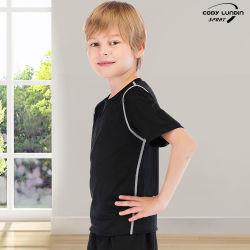 코디 루딘 맞춤형 디자인 로고 유니섹스 키즈 오버사이즈 의류 플레인 우두색 티 OEM ODM 패션 화이트 100% 면 T 셔츠 O-셔츠 인쇄