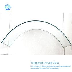 Ultra Clear Glass Low Iron Curved Tempered Laminated Glass Hot 디스플레이 캐비닛/아키텍처용 벤딩 글라스