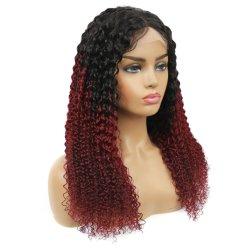 Цвет Kbeth Wig для чернокожих женщин 100% нового бразильского Kinky фигурные 2021 Fashion летом дышащий мягкий Реми Full HD кружева Wig поставщика