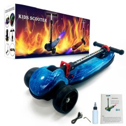PU-Rad mit Licht Jet Spray Kinder Kick Scooter