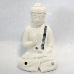 Polyresin 불교 훈장 Buddha 도매 동상, 금관 악기 수지 Buddha 동상