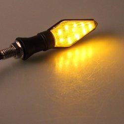 12V de la Motocicleta Universal Intermitente LED intermitente ámbar intermitentes de luz de los indicadores de moto accesorios de iluminación