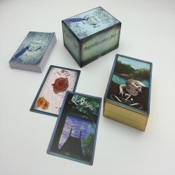 高品質の紫外線光沢のあるのカスタム印刷の金メッキの端の占いカードのゲームのトランプセット
