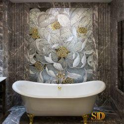 아름다운 꽃 패턴 예술 주된 목욕탕 벽 장식을%s 유리제 모자이크 패턴