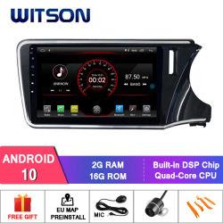 Honda용 Witson MTK Android 10 DVD GPS 플레이어 핏(RHD) 2014