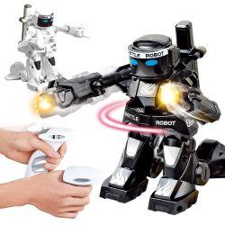 2.4G de Control Remoto de robots humanoides de boxeo combates R/C juguetes con luz y sonido