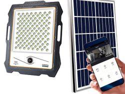 ضوء LED للطاقة الشمسية في الخارج بالجملة بقدرة 100 واط بقوة 200 واط وقوة 300 واط جهاز عرض بقدرة 400 واط مع حساس حركة WiFi