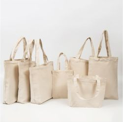 Fabrikant Factory Travel Sports Beach Cosmetic Environmental Resable Foldable Merk Promotionele Cadeau Welfare Customize Recycle Natural Canvas Shopping Bag