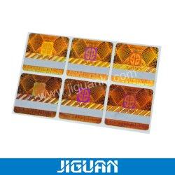 Láser coloridos pegatina contra la falsificación de tarjetas para raspar personalizado de la etiqueta de seguridad